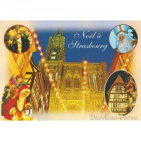 Christmas postcard Notre Dame in Strasbourg