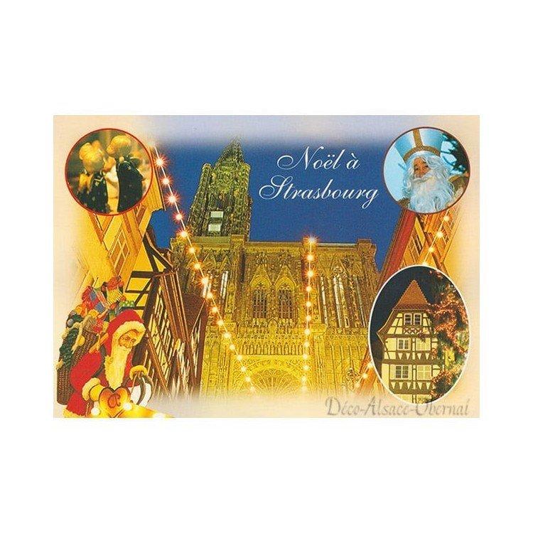 Carte Postale Noël Notre Dame à Strasbourg