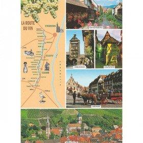 Carte Postale Route du Vin Fleurie