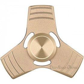 Hand Spinner Luxe 3 branches en Alliage d'Aluminium - Or à La Boite aux Trésors à Obernai