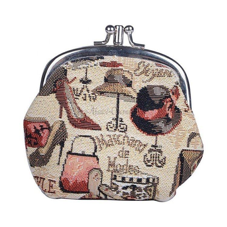 Découvrez Porte Monnaie motif Marchand de Mode en Tapisserie au Magasin La Boite aux Trésors à Obernai