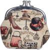 Porte Monnaie motif Marchand de Mode en Tapisserie