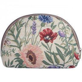 Pochette à zip motif Fleurs du Jardin en Tapisserie