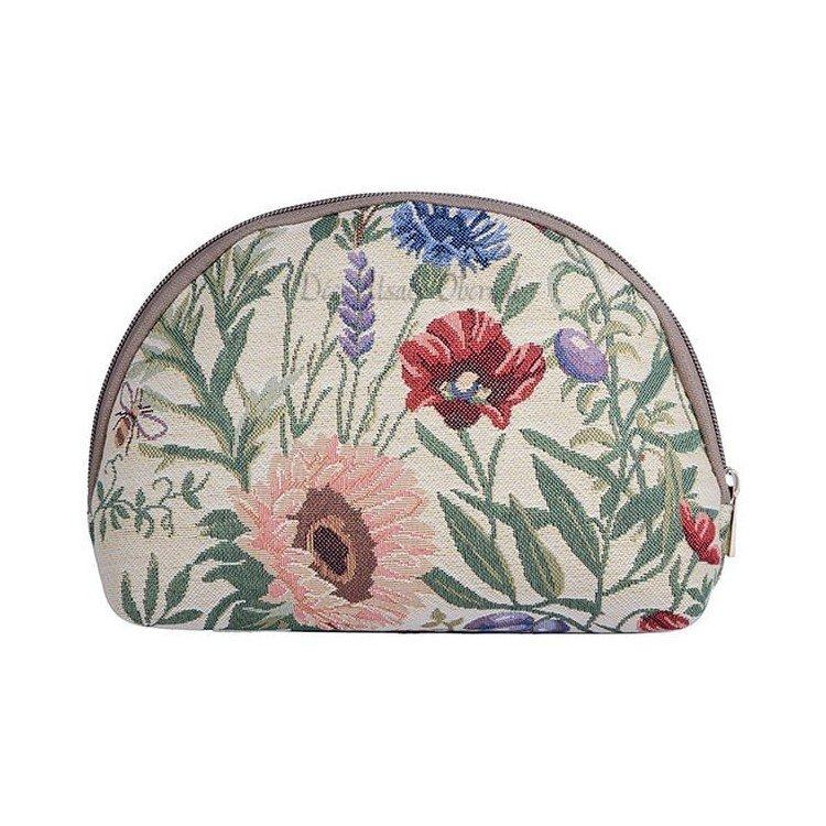 Découvrez Trousse Cosmétique motif Fleurs du Jardin en Tapisserie au Magasin La Boite aux Trésors à Obernai