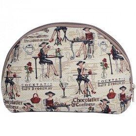 Reißverschlusstasche Muster Prunelle Tapisserie in La Boite aux Trésors in