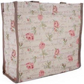 Sac Bandoulière motif Rose en Fleurs en Tapisserie
