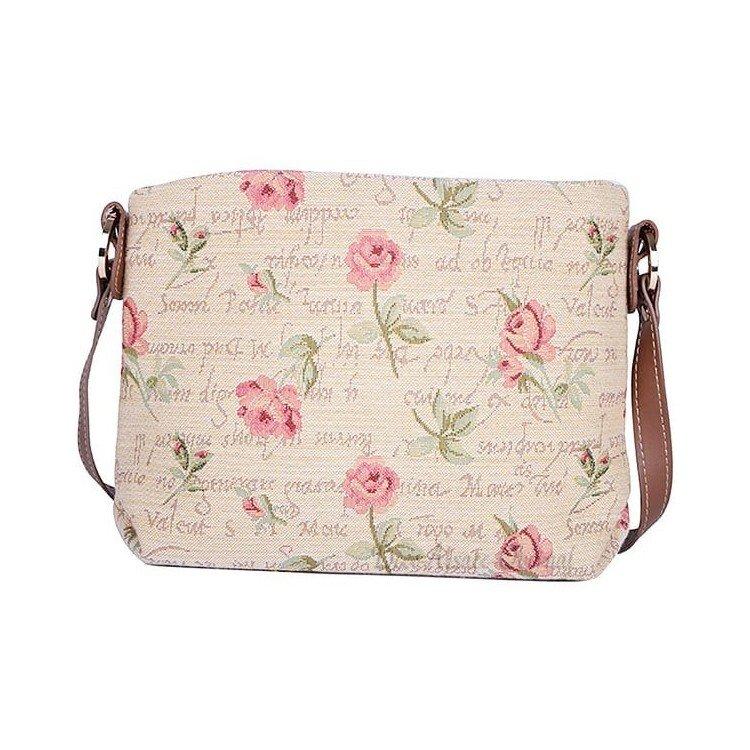 Découvrez Sac à Main Body motif Rose en Fleurs en Tapisserie au Magasin La Boite aux Trésors à Obernai
