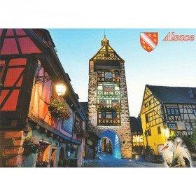 Carte Postale le Béffroi de Riquewihr