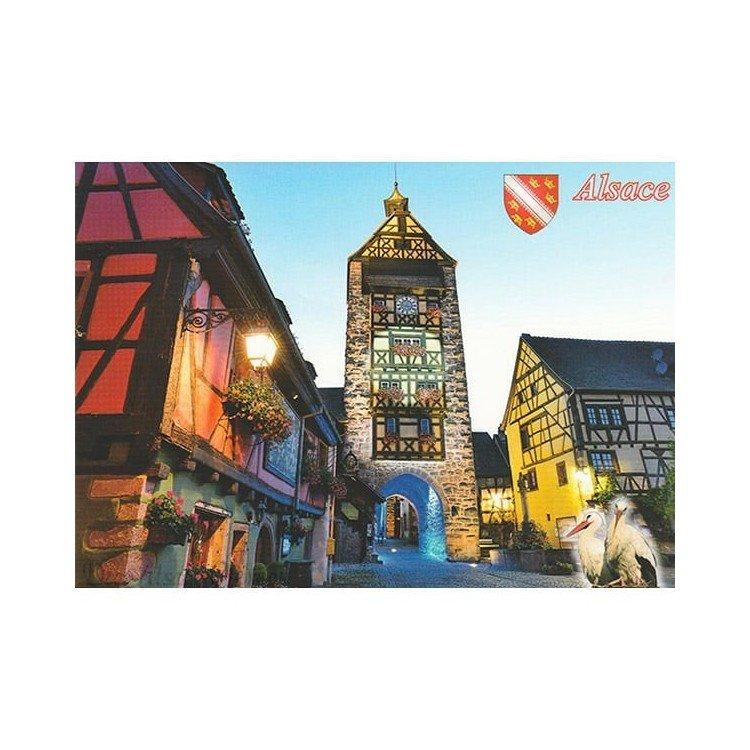 Découvrez Carte Postale le Béffroi de Riquewihr au Magasin La Boite aux Trésors à Obernai