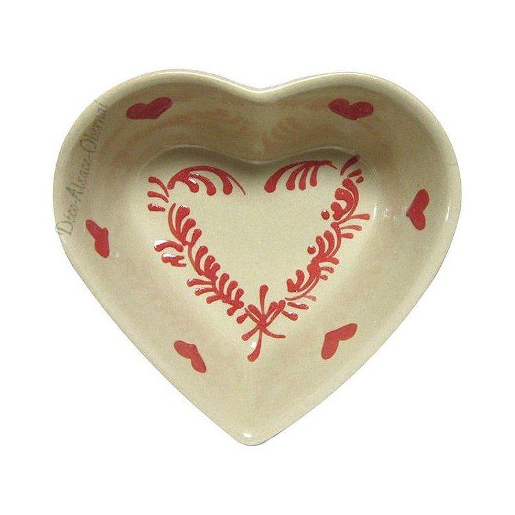 Retrouvez Coupelle Coeur de Soufflenheim couleur Taupe et Coeur Rouge à Obernai