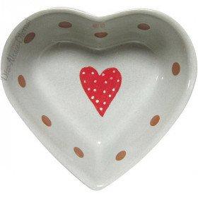 Coupelle Coeur de Soufflenheim Gris Ciel décor Frise Coeur