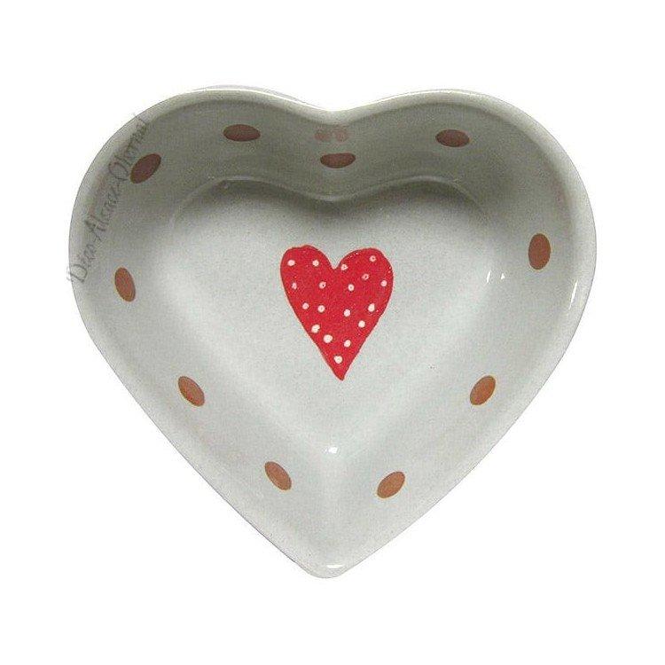Découvrez Coupelle Coeur de Soufflenheim Gris Ciel décor Frise Coeur au Magasin La Boite aux Trésors à Obernai