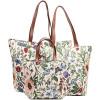 Handtasche und Schultermuster Blumen-Garten-Tapisserie