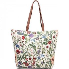 Handtasche und Schultermuster Blumen-Garten-Tapisserie in La Boite aux Trésors