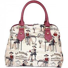 Handtasche mit Griffmuster Prunelle Tapisserie