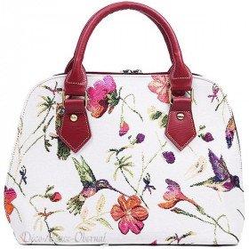 Handtasche mit Hummingbird Muster Griff Tapestry