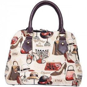 Handtasche mit Griffmuster Marchand-Modus Tapisserie