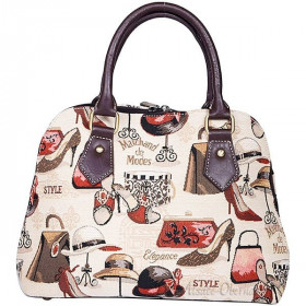Handtasche mit Griffmuster Marchand-Modus Tapisserie in La Boite aux Trésors in