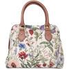 Handtasche mit Griff-Garten-Blumen-Muster Tapestry