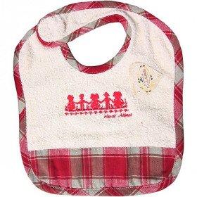Baby-Lätzchen Hansi Elsässer Kelsch gestreiftes Rot