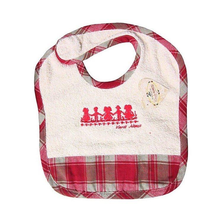 Retrouvez Bavoir bébé Alsacien Hansi Kelsch rayé Rouge à Obernai