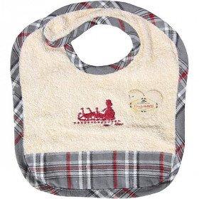 Baby-Lätzchen Hansi Elsässer Kelsch gestreiften Grau in La Boite aux Trésors in