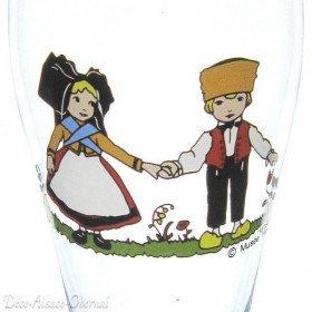6 Verres à Bière Bayern décor Hansi La Boite aux Trésors à Obernai