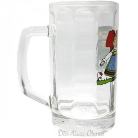 6 Bocks Bier Berra 25 cl Dekor Hansi in La Boite aux Trésors in Obernai