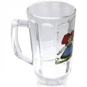 6 Bocks à Bière Berra 20 cl décor Hansi La Boite aux Trésors à Obernai