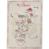 Geschirrtücher-Karte mit den Elsässischen Städten
