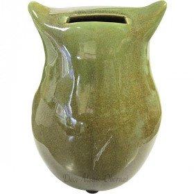 Grüne Eule Keramik-Sparschwein in La Boite aux Trésors in Obernai