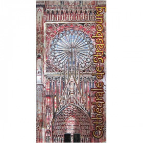 Magnet Décoratif en relief Cathédrale de Strasbourg