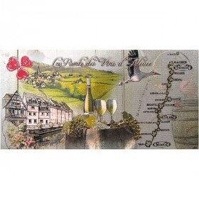 Magnet Dekorative geprägte Route des Vins d'Alsace