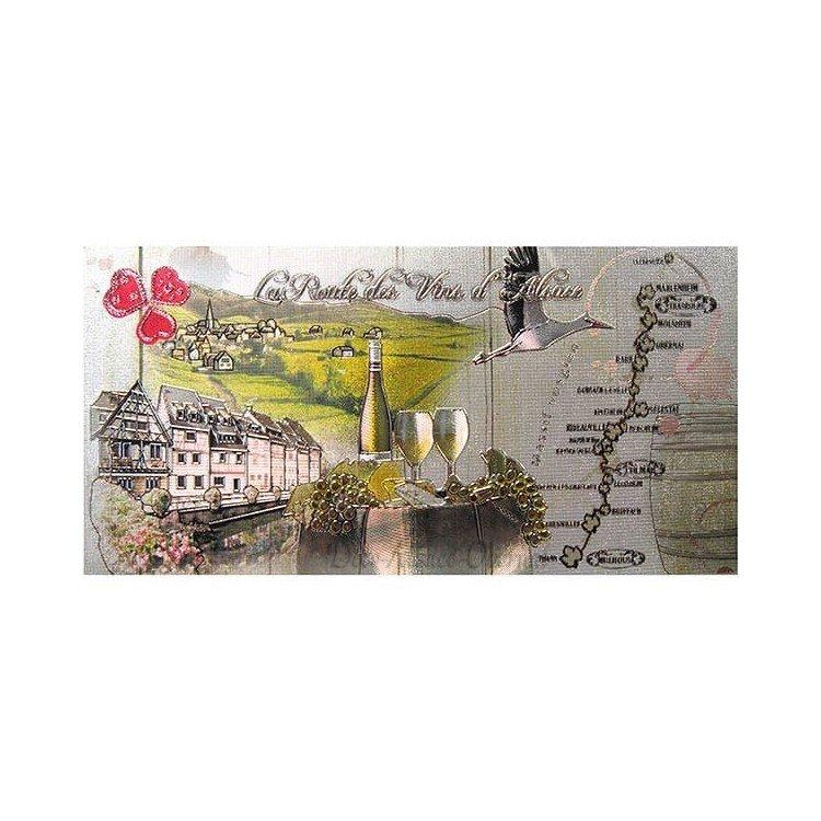 Magnet Décoratif en relief La Route des Vins d'Alsace