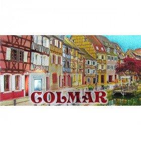 Magnet Panorama geprägt Little Venice Colmar in La Boite aux Trésors in Obernai