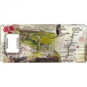 Magnet Flaschenöffner geprägte Route des Vins d'Alsace