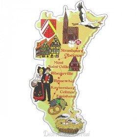Adhésif prédécoupé Carte d'Alsace