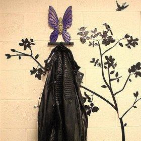 Tür Mantel aus Holz Butterfly Color in La Boite aux Trésors in Obernai
