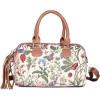 Handtasche mit Pompon Muster-Garten-Blumen-Tapisserie