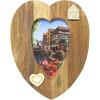 Cadre Photo 10 x 15 cm forme de Coeur en Bois Creusé