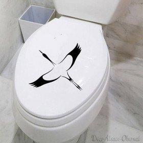 Cigogne Sticker de Toilette La Boite aux Trésors à Obernai