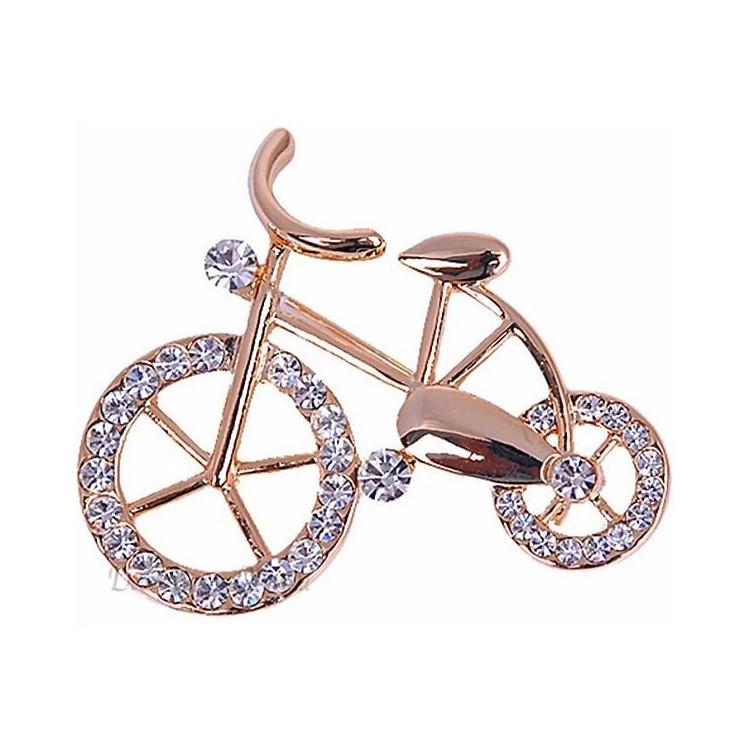 Broche forme de Vélo sertie de Strass