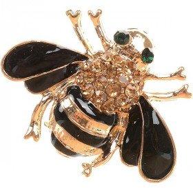 Goldene Brosche geformt Fancy Strass Bee besetzt