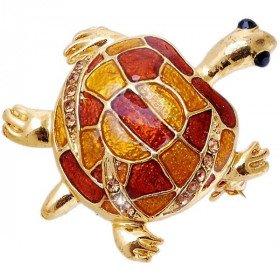 Goldene Brosche geformt Fancy Schildkröte Set mit Strass
