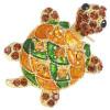 Goldene Brosche geformt Fancy Turtle Mehrfarbensatz mit Strass