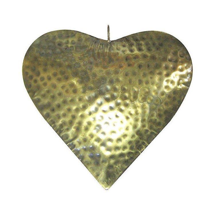 Grand Coeur d'Alsace en Métal couleur Or Vieilli embossé à La Boite aux Trésors à Obernai