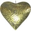 Großes Elsass-Herz in geprägter gealterter Goldfarbe