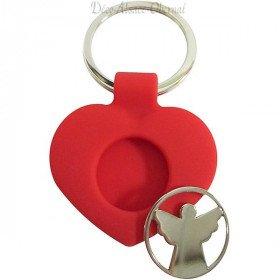 Schlüsselanhänger Herz aus dem Elsass und Token-Caddy-schutzengel