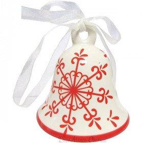 Cloche Flocon de Neige en Céramique à suspendre