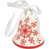 Bell-Schneeflocke Keramik hängen
